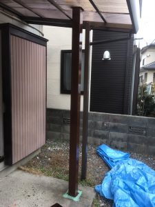 柱塗装終了