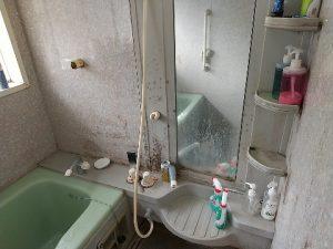 浴室作業前
