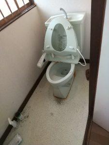 トイレ作業前